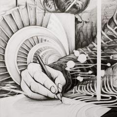 Nasim-Naji-Weisses-Blatt-Zeichnung-2020