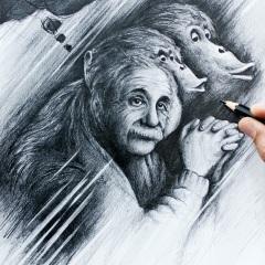 nasim-naji-einstein-portrait-zeichnung-bleistift-2020-12
