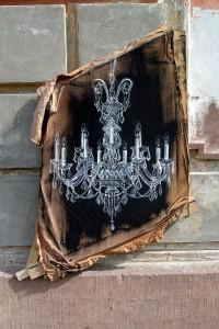 Nasim Naji, Malerei, Kronleuchter, Acryl auf Leinwand